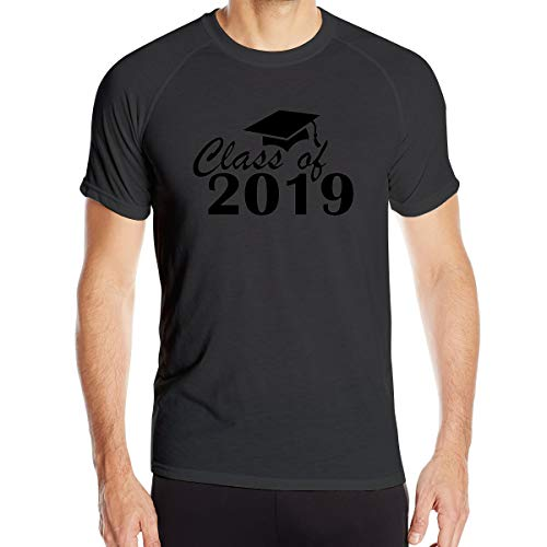 Class of 2019 Mens Dry-Fit Moisture Wicking Active Athletic Performance Crew T-Shirt Hemd Black 3XL (Halloween 2019 Everyday Is)