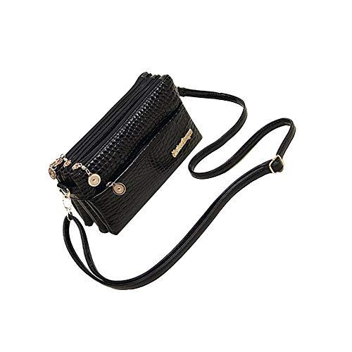 GWXHG Damen-Schultertaschen Handtasche Mode Kleine Umhängetasche Krokoprägung Tasche Frauen Messenger Bags Für Frauen -
