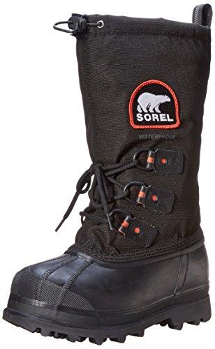 Sorel Stivali da donna Glacier XT, nero (Black/red Quartz), 36 EU