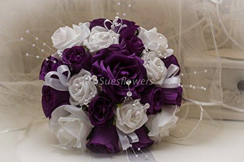 wedding-flowers-bridesmaid-bouquet-in-cadburys-purple-and-white