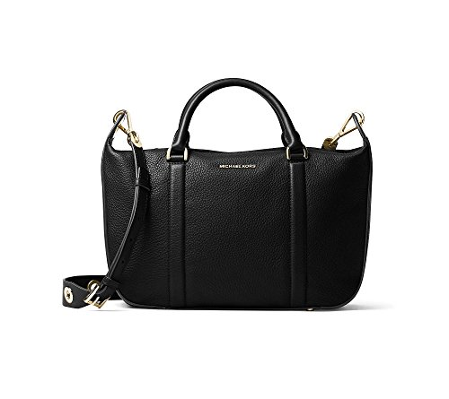 Michael Kors Raven Sac Besace En Cuir Noir Grand Black Leather