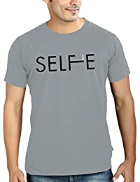 Tantra Mens 100 % Super Soft Combed Cotton Selfie Typo Print Half Sleeve Printed T-shirt