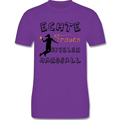 Handball - Echte Frauen Spielen Handball - Herren Premium T-Shirt Lila