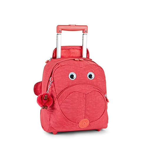 Kipling Wheely Cartella Bambini con Ruote, 32 cm, Rosa (Punch Pink C)