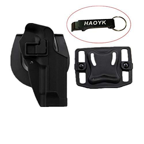 haoYK Taktische Airsoft Pistole Concealment Ziehen Rechtshänder Paddle Gürtel Pouch für M9 M92 (Schwarz)