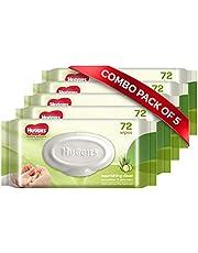 Huggies Baby Wipes - Cucumber & Aloe, Pack of 5 (360 wipes)