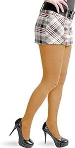 2 x Damen Strick Strumpfhose mit Komfortbund und handgekettelter Naht aus Baumwolle Farbe Tangerine Größe S/M