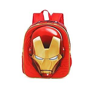41DlyTt pvL. SS300  - Karactermania Iron Man Armour-3D Rucksack (Klein) Mochila Infantil 31 Centimeters 8.5 Rojo (Red)