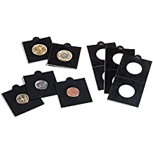 Cartones de monedas MATRIX, negro, diámetro 39,5 mm, autoadhesivos, 25 unidades