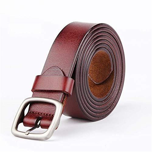 Y-WEIFENG Frauen Ledergürtel verstellbare dünne Taille Gürtel für Jeans Hosen Kleider Plus Größe ` (Farbe : Braun)