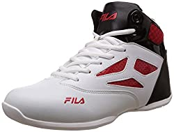 Fila Mens Rim Loop White, Black and Red Basketball Shoes -10 UK/India (44 EU)