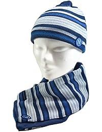 Enzo Castellano - Ensemble bonnet, écharpe et gants - Garçon Bleu bleu  Taille Unique 2411490ab67