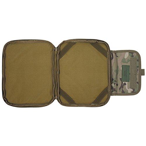 MFH Borsa imbottita Borsa Tablet protettiva molle PC Computer 25x 20cm schultasche Outdoor tasche Camping molti colori, oliva, Taglia unica motivo militare operation