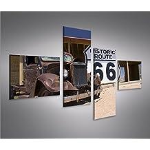 Imagen imágenes en lienzo Ruta 66Arizona Vintage Car 4L XXL Póster Lienzo Cuadro de decoración salón Marca Islandburner