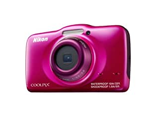 Nikon COOLPIX S32 Waterproof Shockproof Compact Digital Camera - Pink (13.2 MP, 3x Zoom) 2.7 inch LCD (discontinued by manufacturer)
