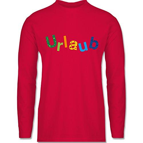 Statement Shirts - Urlaub - Longsleeve / langärmeliges T-Shirt für Herren Rot