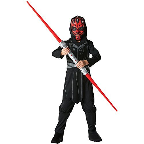 Rubie's Darth Maul-Kostüm für Kinder Star Wars Karneval schwarz-rot 152 (11-12 Jahre)