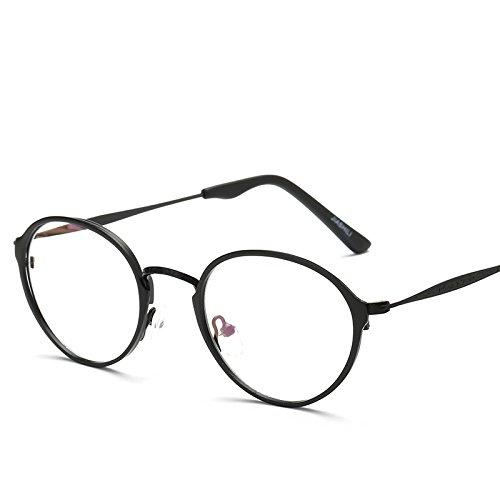 XXFFH Sonnenbrille Männer Lady Retro-Runde Gebürstetem Leder Flacher Spiegel , A (Sonnenbrille Leder Michael Kors)