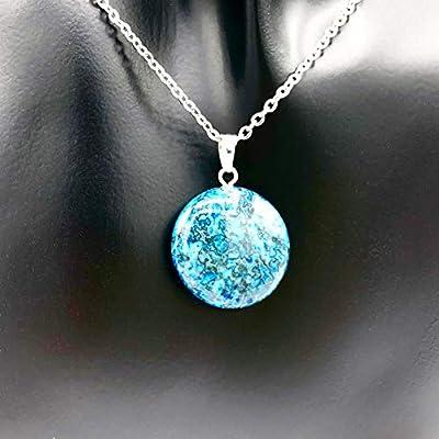 Collier MALDIVES DIA | Acier inoxydable | Pierre naturelle | bleu | Optique des îles Maldives | Onyx | Le paradis | HolycusCrafts