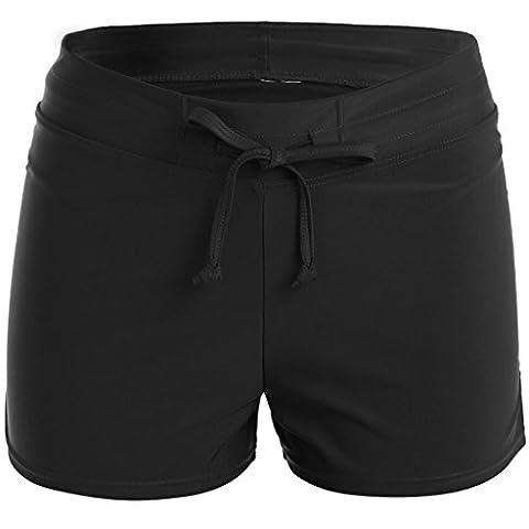 CharmLeaks Womens Surfing Swimming Shorts Sports Boardshorts Bikini Tankini Bottoms Swimming Costume with Pocket and Drawstring
