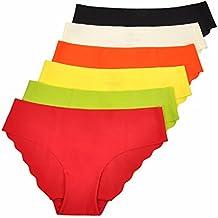 La Isla - Braguita de Talle Bajo Bikini Para Mujer, Pack de 6