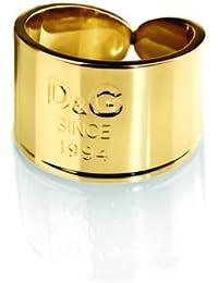 Dolce & Gabbana DJ102454 - I D&G - Anillo de mujer de acero inoxidable dorado (talla: 14)
