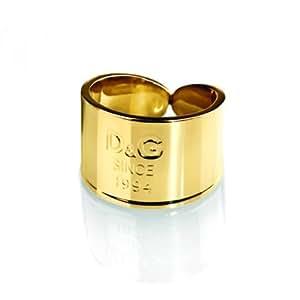 Dolce & Gabbana - DJ102454 - I D&G - Bague Femme - Acier Doré - T 54