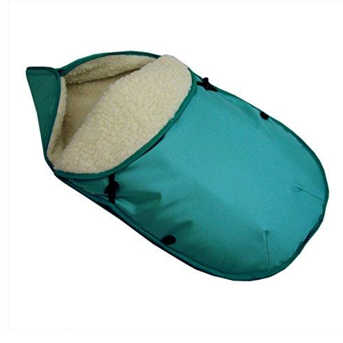 Preisvergleich Produktbild BAMBINIWELT universaler Winterfußsack für Babyschale (z.B: Maxi-Cosi) oder Kinderwagen, aus Wolle UNI TÜRKIS