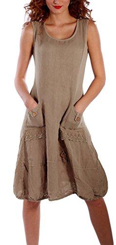 f4506b2dfd1c Yidarton Damen Kleider Strand Elegant Casual A-Linie Kleid Ärmellos  Sommerkleider (XXL, Kaffee
