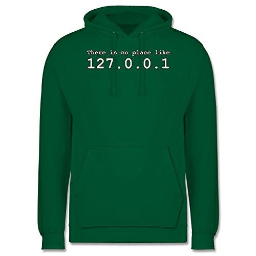 Programmierer - There is no place like 127.0.0.1 - Männer Premium Kapuzenpullover / Hoodie Grün