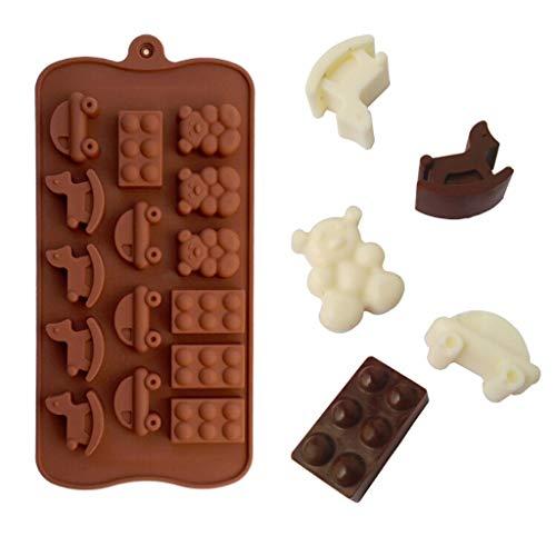 LHWY Baby-Dusche-Silikon-Fondant-Kuchen-Form-Form-Schokoladen-Backen-Partei-Dekor