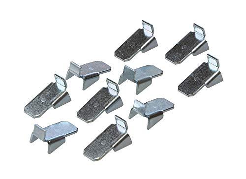 Gedotec Tablarträger Metall Regal-Bodenträger zum Einhängen in Schiene - VARI 10 | Stahl verzinkt | Halterung für Holz-Böden & Tablarböden | 20 Stück - Fachbodenträger für Regalträger-Schiene