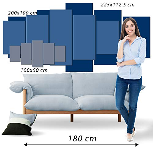 Bilder 200×100 cm – XXL Format – Fertig Aufgespannt – TOP – Vlies Leinwand – 5 Teilig – Wand Bild – Kunstdruck – Wandbild – Kunst Abstrakt 051477 200×100 cm B&D XXL - 5
