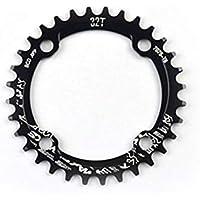 JullyeleDEgant MTB Fahrrad Schmale Breite Runde Kettenblatt Kette Ring 104mm BCD Kurbel 32 T 34 T 36 T 38 T CNC Aluminiumlegierung Radfahren Zubehör