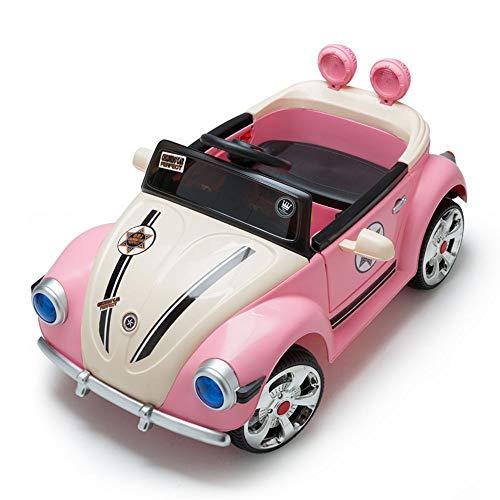 LMYG Schöne Kinder Das Auto, Fernbedienung Vierrädriges Spielzeug Kann in Der Oldtimer-Prinzessin Powder Children Car Music Sitzen, LED-Licht Mädchen, Rosa