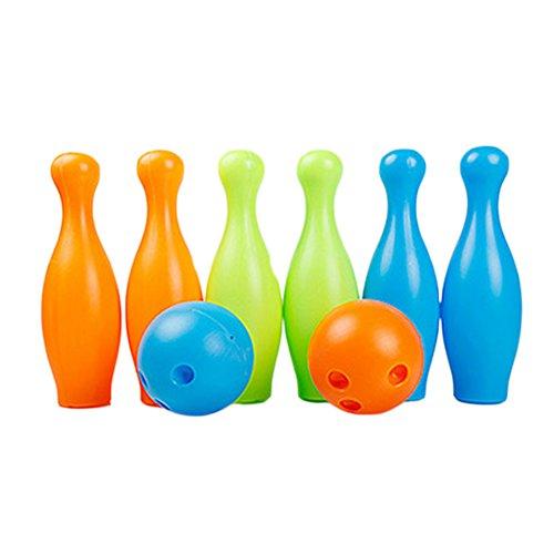 Colorful Big pour enfant en plastique de boule de bowling, 2boules et 6broches