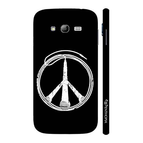 Enthopia Designer Hardshell Case Peace is Music Back Cover for Samsung Galaxy Grand 2  available at amazon for Rs.95