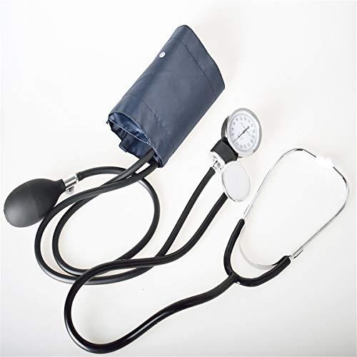 JUZHEN Manuelle Blutdruckuhr mit medizinischem Blutdruckmessgerät des Stethoskops Arm Blutdruckmessgerät fötales Herz Doppelrohr Doppelkopf-Stethoskop, schwarz
