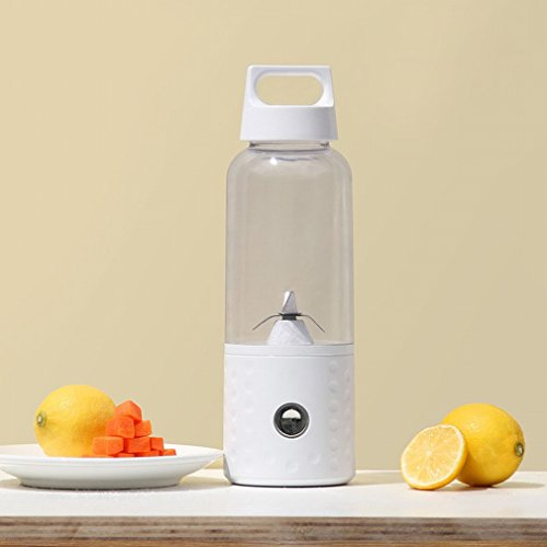 H Juicer Vitamer Electric Juice Cup Usb Rechargeable Household Portable Mini Juicer,White