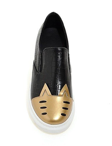 ZQ Scarpe Donna - Mocassini - Ufficio e lavoro / Casual - Punta arrotondata - Piatto - Finta pelle - Argento / Dorato , golden-us8 / eu39 / uk6 / cn39 , golden-us8 / eu39 / uk6 / cn39 silver-us5 / eu35 / uk3 / cn34