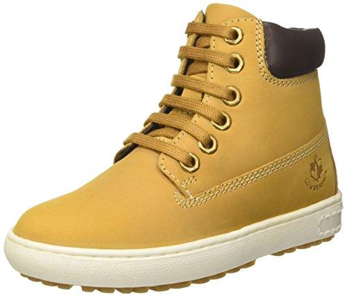 Lumberjack Oklahoma, Sneaker a Collo Alto Bambino, Giallo (Yellow/Dk Brown), 30 EU