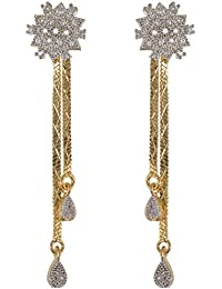 Subharpit Sui Dhaga Designe Ethnic Gold Plated Earrings For Women (SUBHER930)