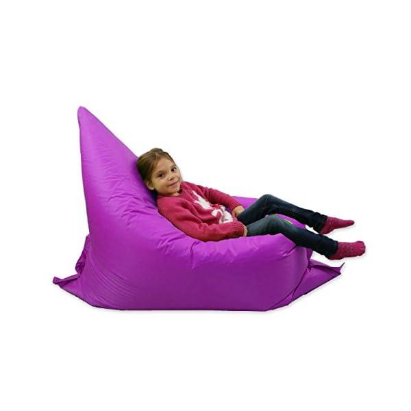 Pouf per bambini, grande, 6 modalità di seduta, sdraio da ...