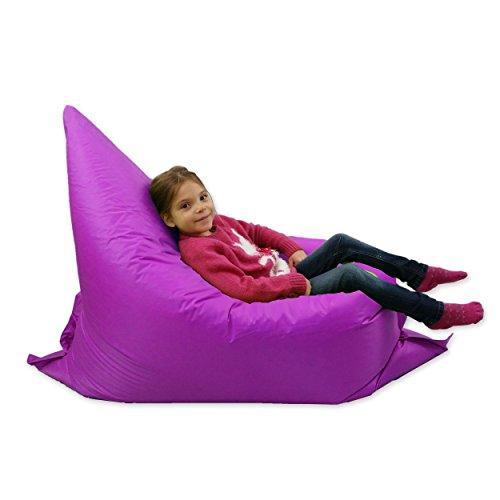 Kids BeanBag Large 6-Way Garden Lounger - GIANT Childrens Bean Bags Outdoor Floor Cushion PURPLE - 100% Water Resistant Test