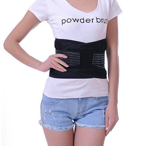 ROSENICE Magnetischer Wärmegürtel Rückenbandage Rückenstütze Rückengurt Magnetfeldtherapie rückseitige Taille Schmerzen Gurt Brace - Größe XL (schwarz)