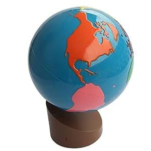 Montessori Globe - World Parts