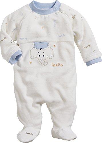 Schnizler Unisex Baby Schlafstrampler Schlafoverall Nicki Elefant Töröö, Oeko-Tex Standard 100, Beige (Natur 2), 56