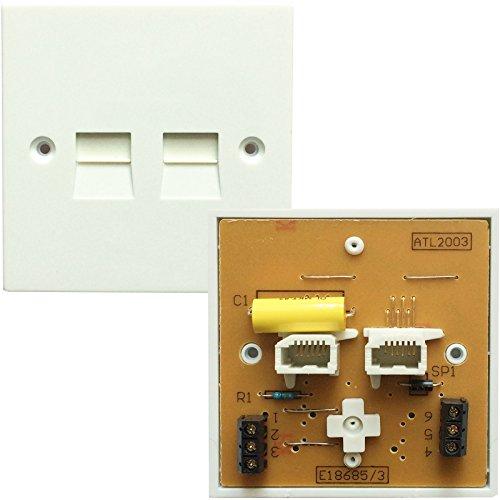 BT Telefon Dual Port PSTN Master Socket-Screw terminal-Wall Adapter Teller 5/4A Dual-port-wall Plate