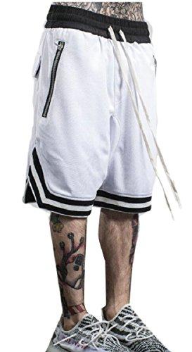 Gocgt Men's Casual Basketball Sport Elastic Waist Short Pants