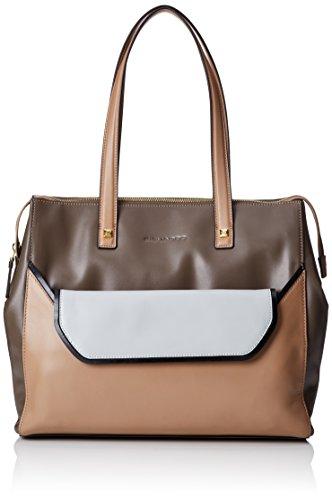 Piquadro Shopping Bag Collezione Andromeda Borsa a spalla, Pelle, Beige, 34 cm